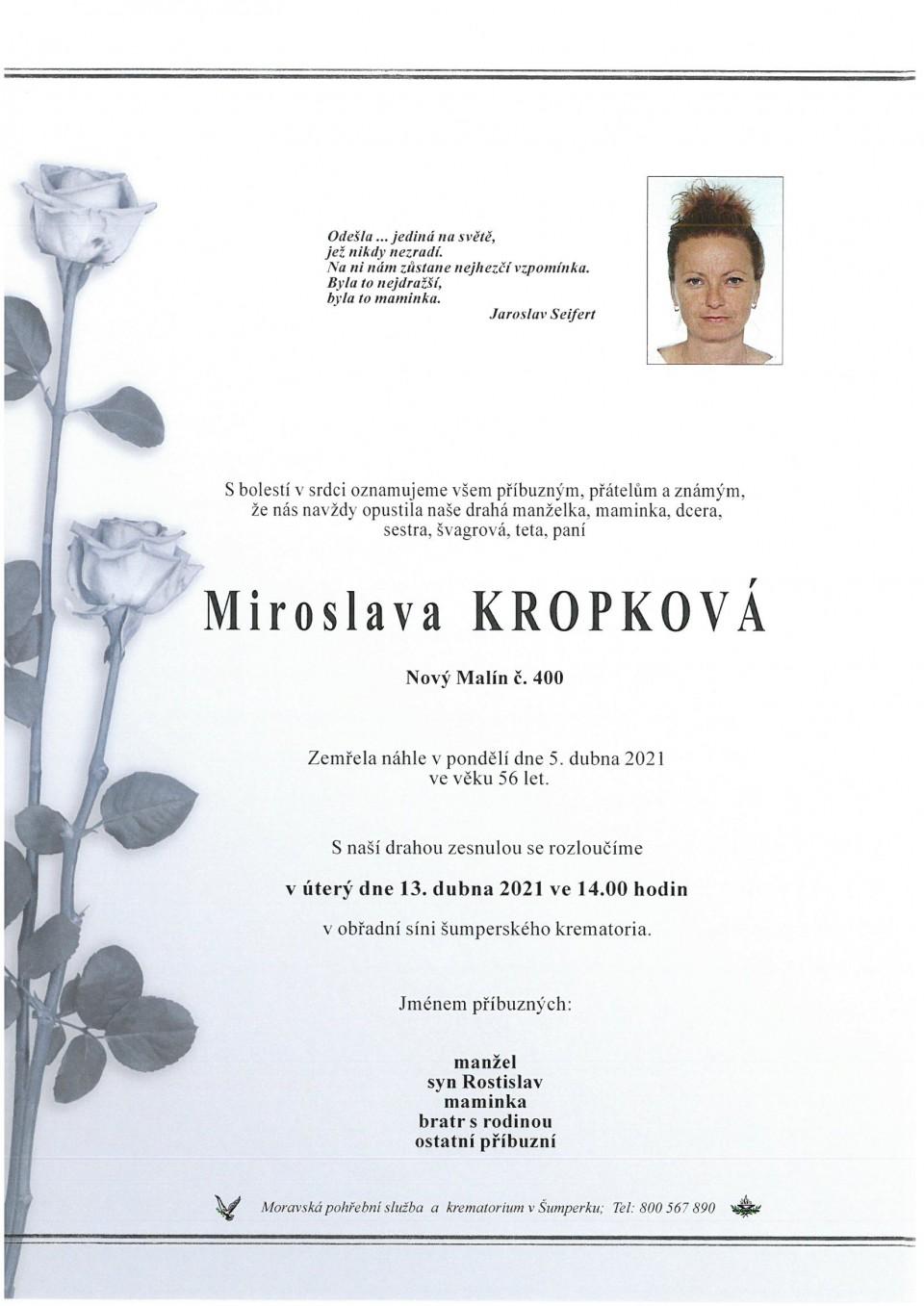 Smuteční oznámení - Kropková Miroslava.jpg